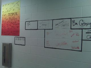 Durham Performing Arts Center backstage wall b