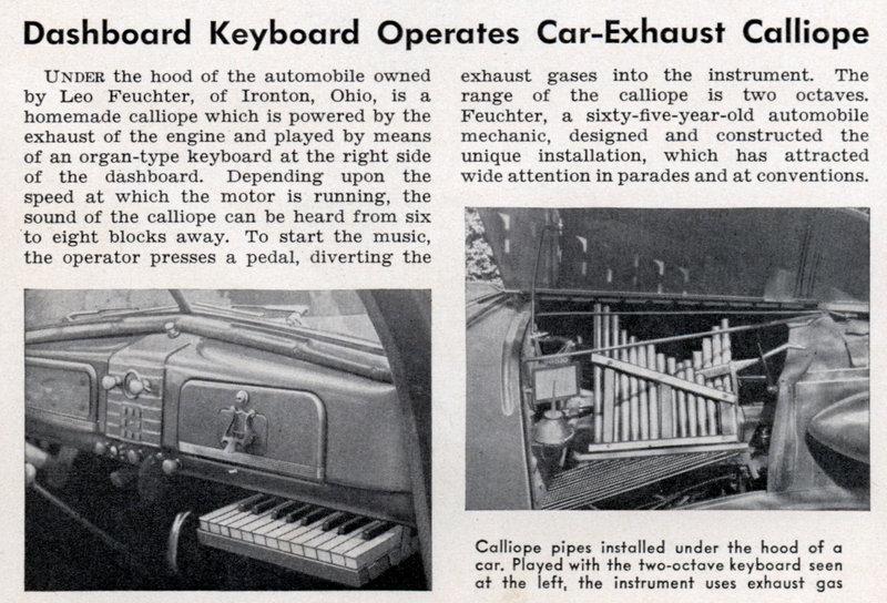 Car exhaust calliope